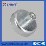 Бак магнита цинка плакировкой круглый низкопробный с внутренней резьбой штангой