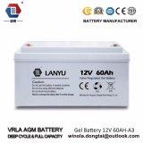 batería solar del gel del Profundo-Ciclo de 12V60ah VRLA