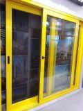 Double porte coulissante en verre en aluminium