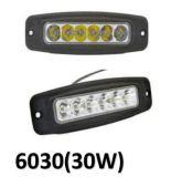 12W 900lm 6500K 4 LED 일 빛/주간 야간 항행등/off-Road 램프/안개등 사각 크리 사람 LED 일 빛 측 반점 또는 플러드 LED 일 빛