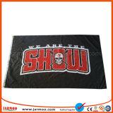 Tejido de poliéster de publicidad bandera con logotipo de empresa
