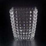 Facettierter Kerze-Behälter mit quadratischer Form