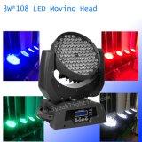108 Wäsche-beweglicher Kopf der PCS-3W RGBW Wäsche-LED bewegliche Hauptdes licht-LED