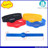 Tag impresso do Wristband do logotipo NFC Ntag213