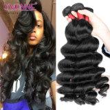 Trama allentata non trattata dei capelli dell'onda di alta qualità 100% per le donne di colore