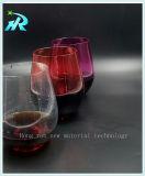 Tazas de consumición sin pie de los vidrios de vino del animal doméstico