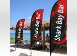Bandiera della spiaggia della bandierina della piuma di volo del banco di mostra di pubblicità esterna