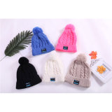 Form-warmer Woolen Winter-Sports gestrickter Hut-drahtloser Acrylkopfhörer Beanie-Hut-Bau im Lautsprecher