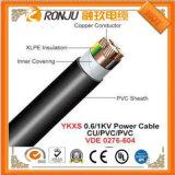 O halogênio isolado XLPE de cobre do Baixo-Fumo do condutor inflama livre - o cabo de controle retardador