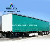 Camion Semitrailer Box Van Trailer di trasporto di carico della tela incatramata del lato della tenda del PVC