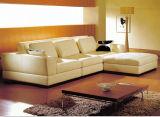 Canapé en cuir de canapé en cuir avec forme en cuir en forme de L
