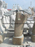 طبيعيّة رخام/صوان حجارة نحت لأنّ حديقة منظر طبيعيّ