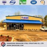 Construction préfabriquée de structure métallique de longue vie pour l'entrepôt jeté/atelier
