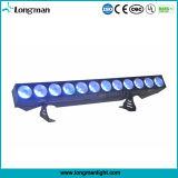 DMX Rgbaw 12X25W 5dans1 LED mur de lumière linéaire de la rondelle