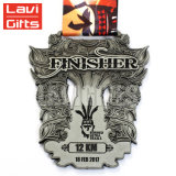 De Goedkope Geplateerde Medaille van uitstekende kwaliteit van het Metaal van de Sport van de Douane Siliver