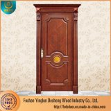 Deshengのエキゾチックな手によって切り分けられるチークの平野の純木のドア