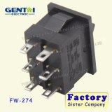 Alrededor 3 del interruptor de eje de balancín de la posición 6pins 6A 250V