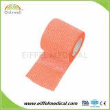 Soft Non-Woven coesa flexível do tornozelo elástica bandagem de gaze