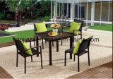/Rattan esterno/Tabella di Chair& del panno di Texilene della mobilia hotel Patio//del giardino ha impostato (HS 2006C& HS2005AC&HS 7108DT)