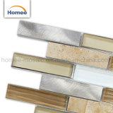 Tegel de van uitstekende kwaliteit van het Mozaïek van het Aluminium van de Steen van het Glas van de Strook van Backsplash van de Keuken