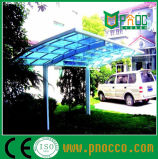 Carport di alluminio del blocco per grafici con il tetto del policarbonato per residenziale (252CPT)