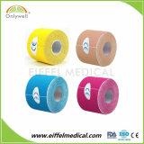 Nouvelle arrivée coton coloré de bandes de sport d'étirement de la kinésiologie