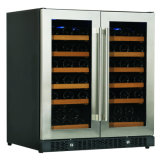 """"""" centro doppio side-by-side del dispositivo di raffreddamento della bevanda del vino del portello 30"""