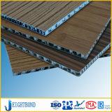 Panneau en aluminium de nid d'abeilles de placage en bois pour la décoration d'intérieur