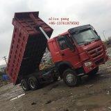 Cheval Sinotruk HOWO 375 Puissance moteur de la vente de camion à benne en stock