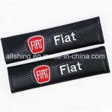 Auto-Firmenzeichen-Sicherheitsgurt-Kohlenstoff deckt Schulter-Auflagen für FIAT ab