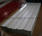 Cerca de medio ambiente instalación PPGI Trapezoidal techado de la placa de acero