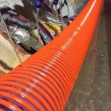 Boyau renforcé industriel de tube d'aspiration d'irrigation de ressort spiralé de PVC