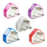 3-UK поездки вилка-адаптер зарядного устройства на стене гнездо USB порт для телефонов