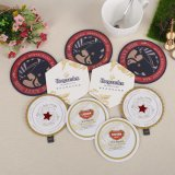 Tapete de mesa de papel absorvente bebida Personalizada Coasters para promoção dons (YH-DC031)