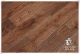 Suelos de madera maciza de roble, piso de madera, manchado, cepillado