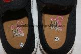 Chaussures de toile des enfants avec les chaussures injectées par PVC