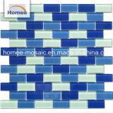 Color azul del mar Non-Slip brillante vidrio piscina de azulejos de mosaico