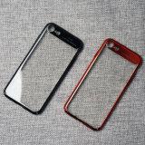 2017 caixas magros do telefone do PC do chapeamento elegante para o iPhone 7/7 positivos