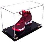 Cas d'exposition acrylique de chaussure de qualité de grande taille en gros
