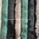 Tessuto lungo della pelliccia artificiale della pelliccia del mucchio dell'alta del mucchio del jacquard della pelliccia pelliccia di falsificazione con i colori