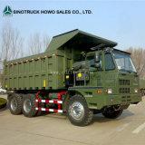 Sinotruk HOWO 6X4販売のための70トン鉱山のダンプトラック