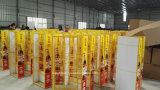 Vier Schichten praktische Sojabohnenöl Souce Zahnstangen-Standplatz-/Metallausstellungsstand