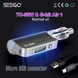 열광 Vape 최신 제품 Seego는 공기 전자 담배 수증기를 Tc 50W+G 명중했다