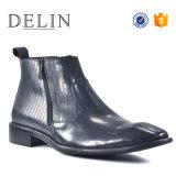 Vente chaude bottes noires Zip Bottes en cuir pour hommes