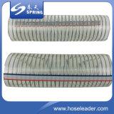 Tubo flessibile idraulico di rinforzo di plastica arancione del tubo di scarico industriale dell'acqua del filo di acciaio del PVC