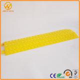 Interior portátil&Outdoor Amarelo de plástico protector de cabo de 2 canais