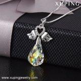 Xuping-00417 Collar de joyas, Bijouterie Collar de color plateado de ala de los cristales de Swarovski