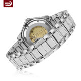 Montre-bracelet imperméable à l'eau mécanique précise d'acier inoxydable de mode