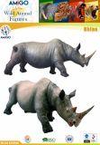 Het levendige Plastic Speelgoed van de Rinoceros