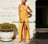 Frauen weg Schulter-trägerlose lange Hülse Lace-up Backless Bodycon Verpackung vom reizvollen mini kurzen Clubwear Partei-Strand-Kleid Esg10355